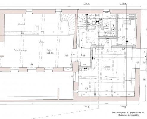 Architecture Auch Marie Pirot Plan Montaut les créneaux
